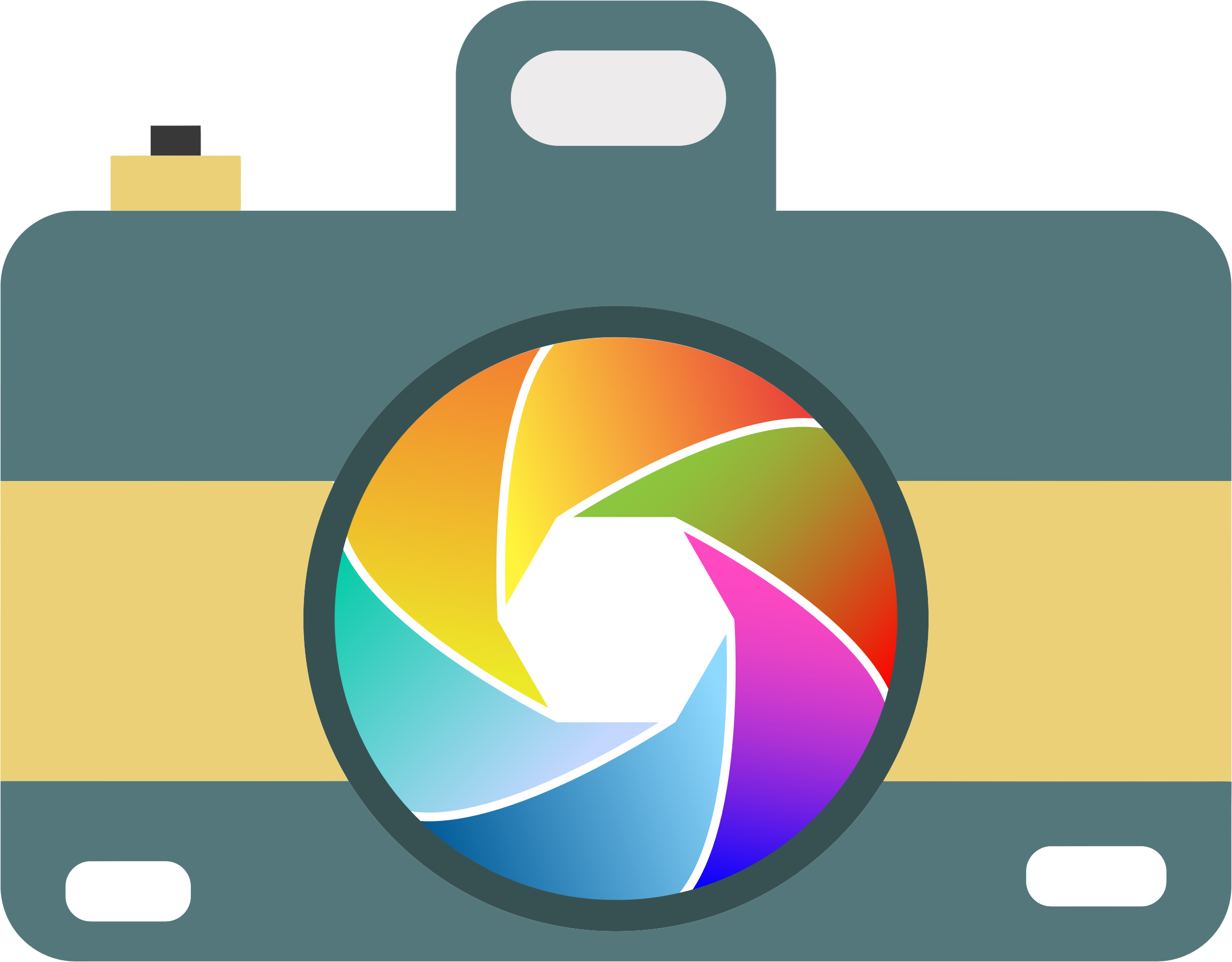 Clip icon colorful. Camera with shutter icons