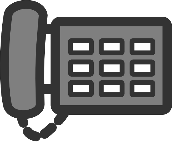 Vector offices clipart. Telephone clip black