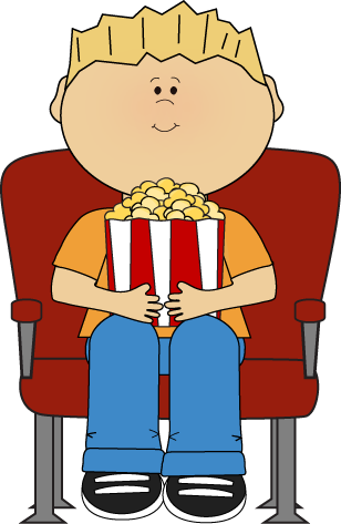 Clip movis animated. Movies clipart kid cute