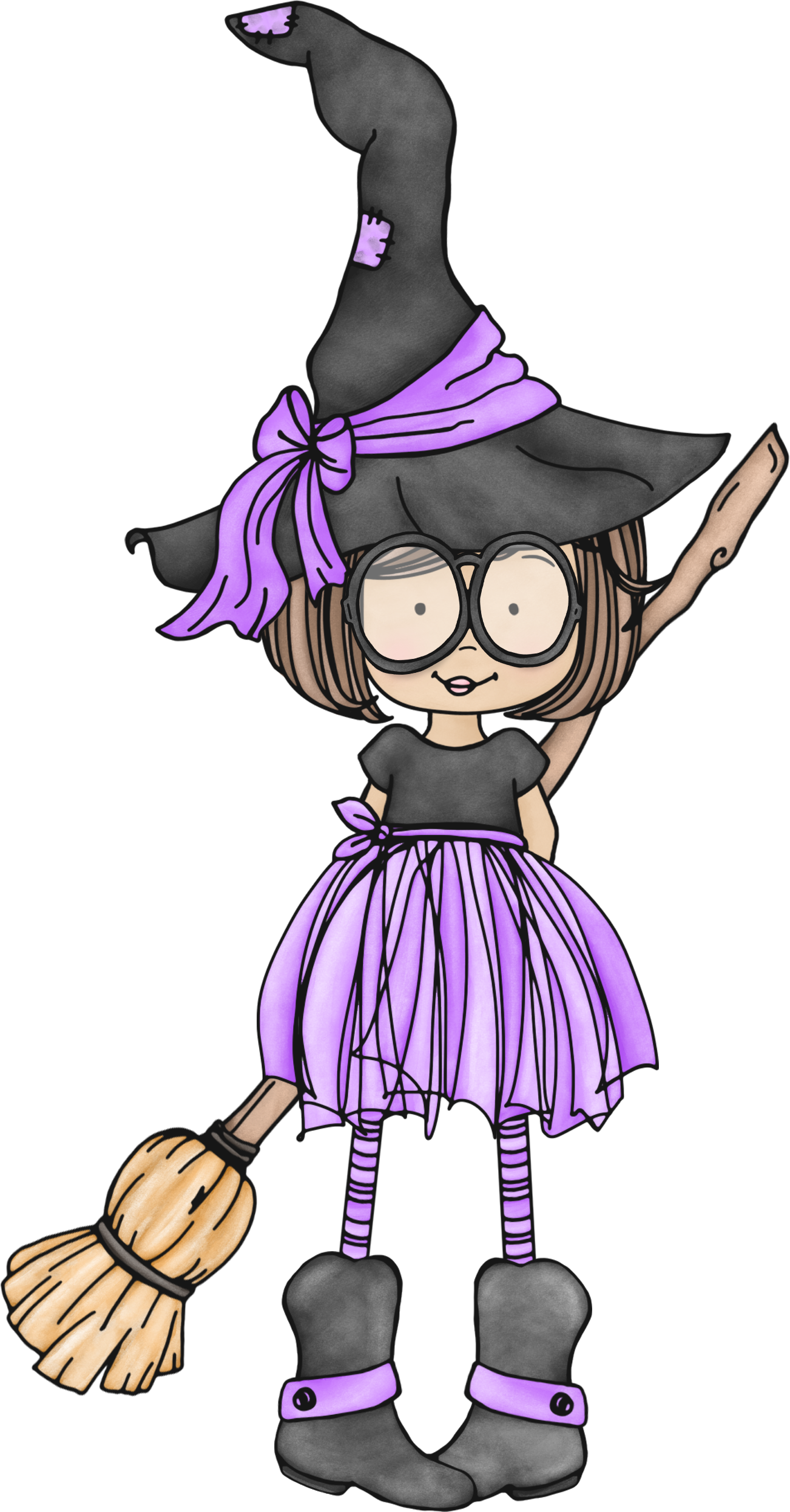 drawing witches cute