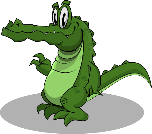 Vector alligator mad. Crocodile clip art free clip freeuse library