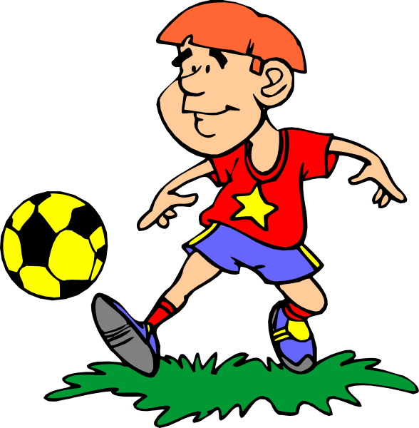 Clip player clipart. Image of soccer art