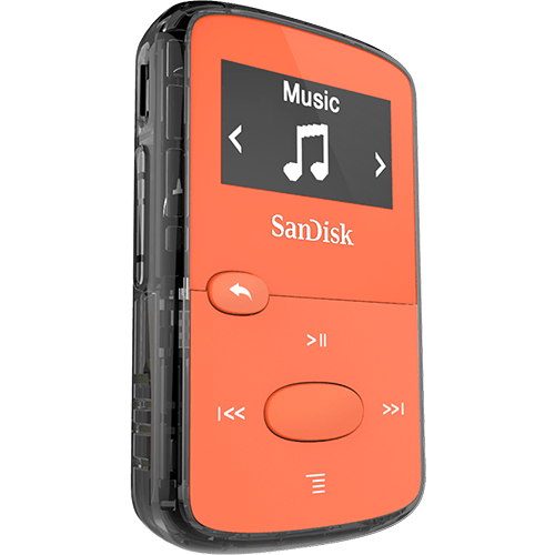 Clip player sansa clip . Jam mp sandisk orange