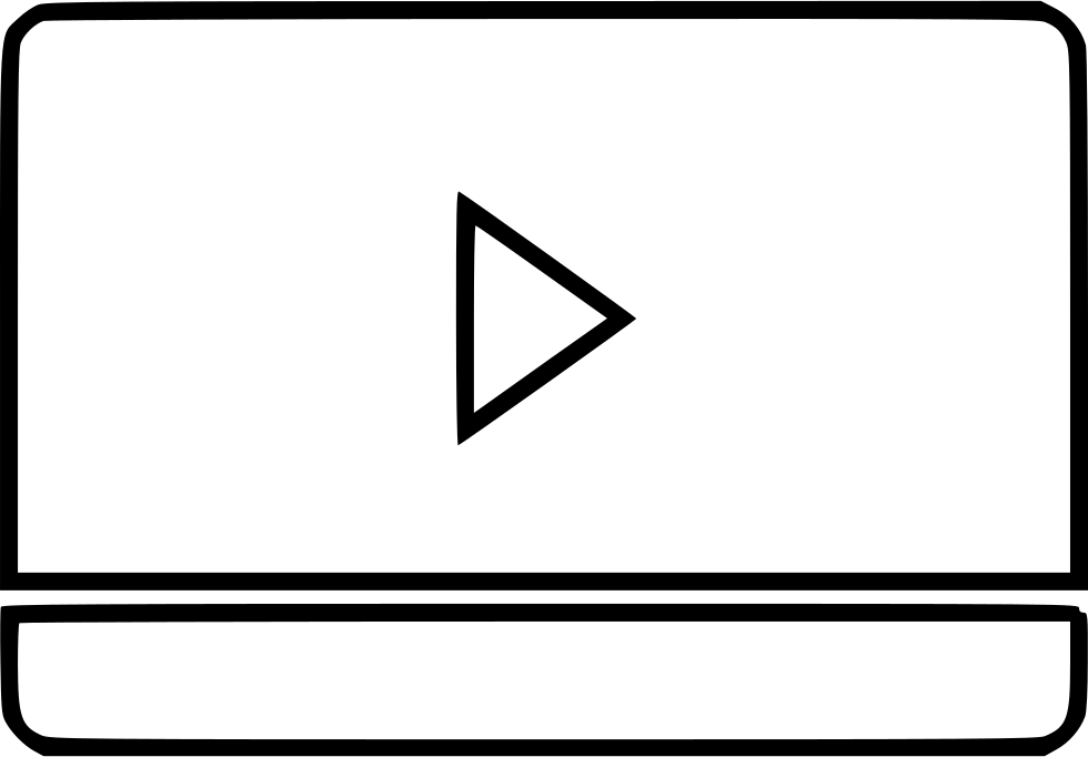 Clip player screen. Monitor play tv svg