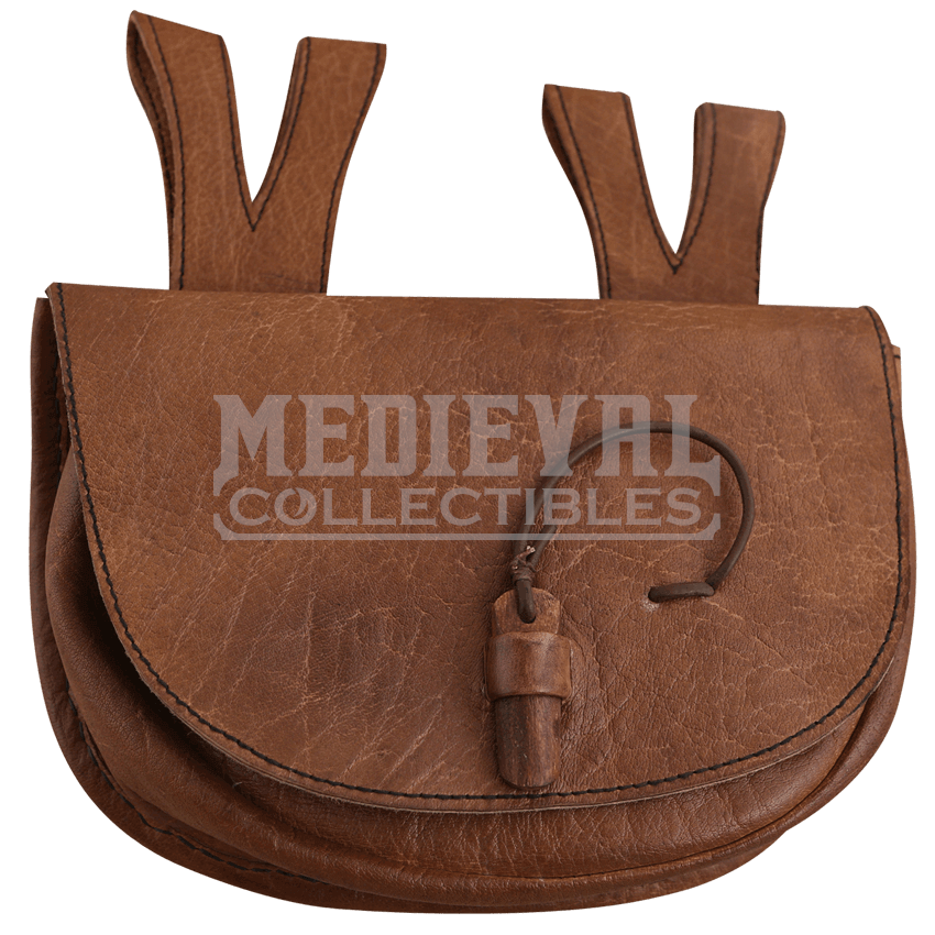 Clip purse belt loop. Leather pouches medieval and