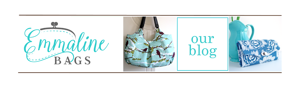 Clip purse homemade. Emmaline bags sewing patterns