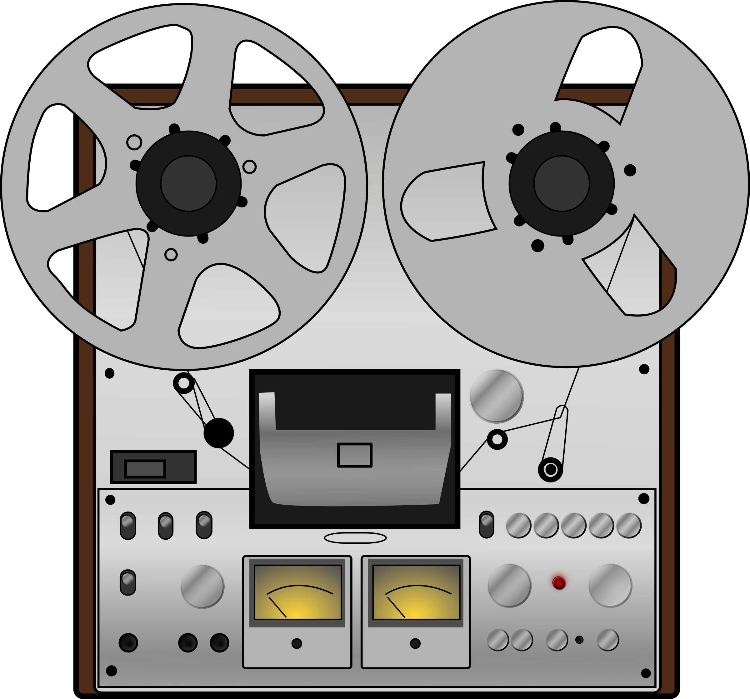 Clip recorder. Clipart reel to tape