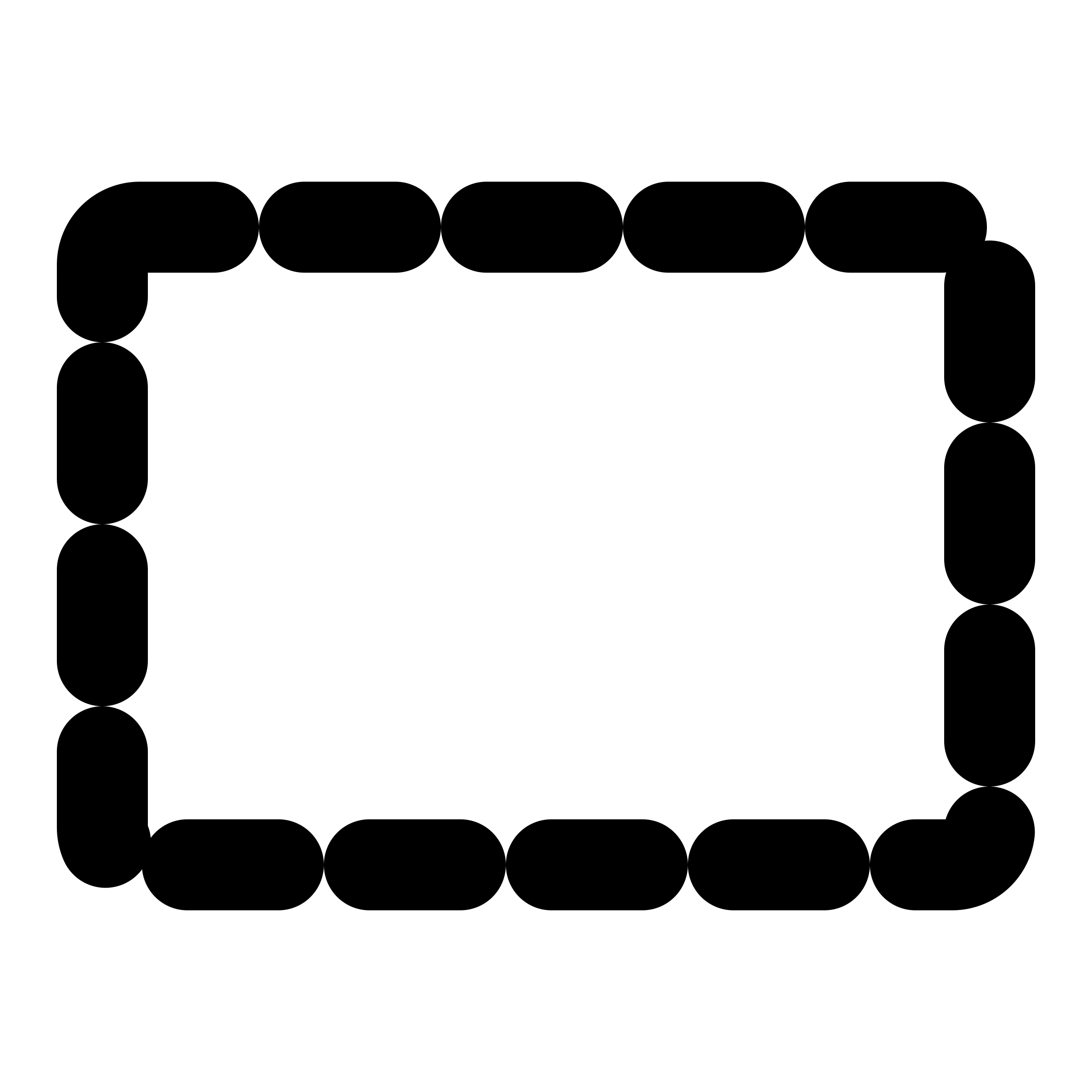 Mono tool selection icons. Clip rect png transparent download