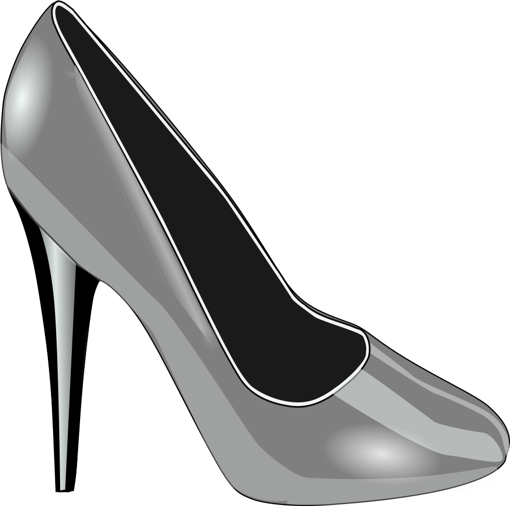 Clip shoes bridal shoe. Onlinelabels art silver