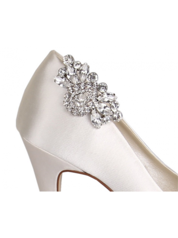 Brooch clip shoe. Myra diamant clips