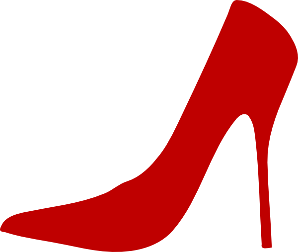 Heel clip red. Shoes image library