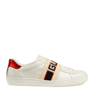 Clip shoes jeweled. Gucci ace sneakers for