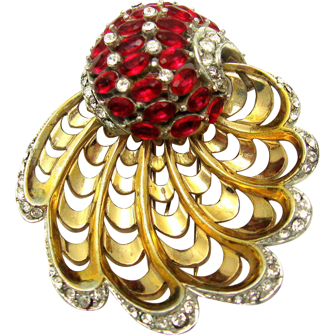 Clip shoes jewelry. Rare mb boucher shell