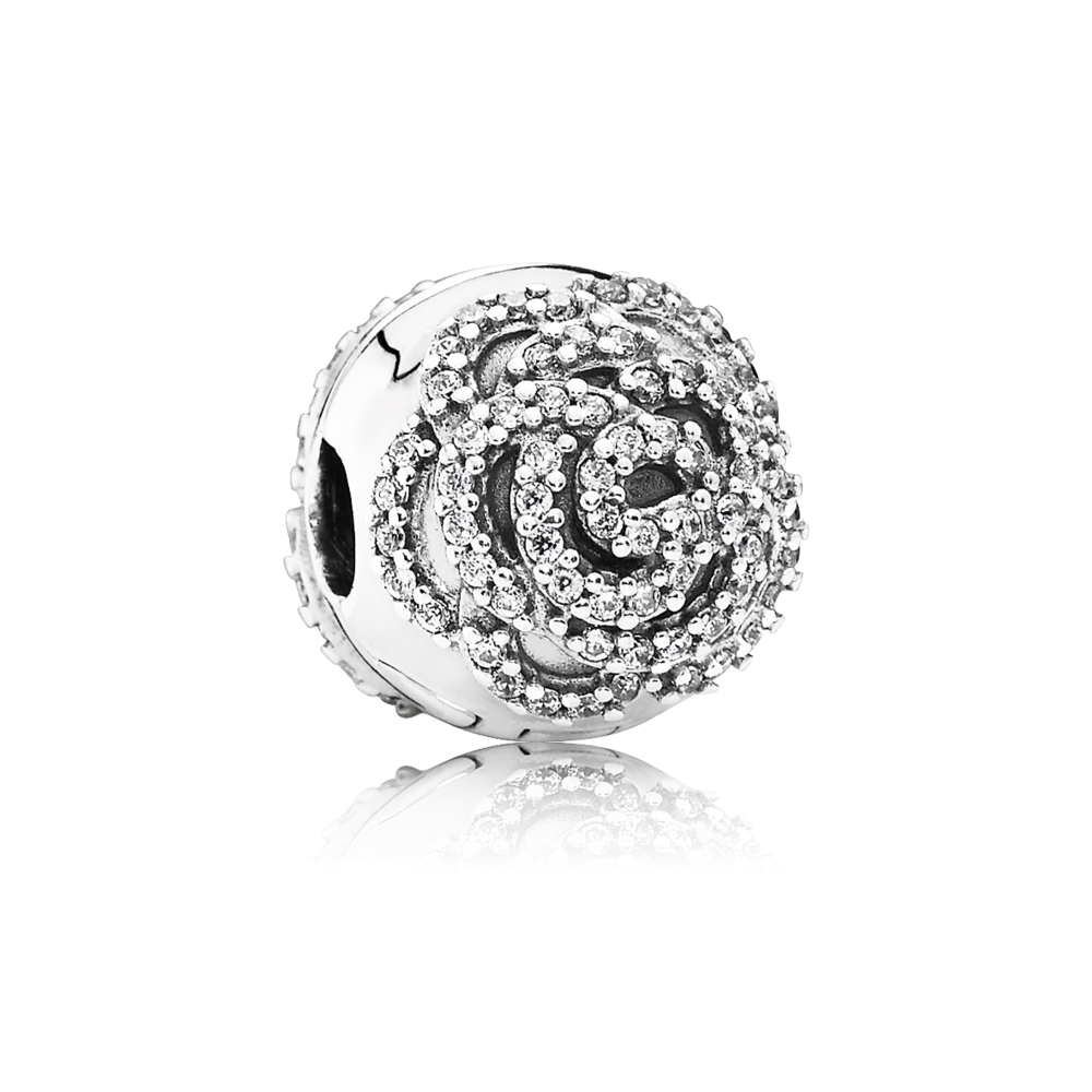 Clip shoes jewelry. Pandora shimmering rose clear