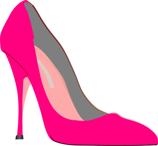 Clip shoes pump. Heel pink art at