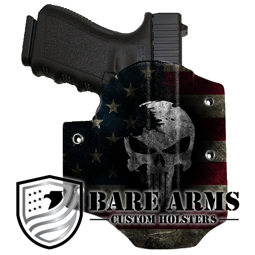 Clip speed owb. Holster distressed skull on