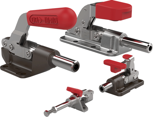 Clip speed toggle latch. Straight line action clamps