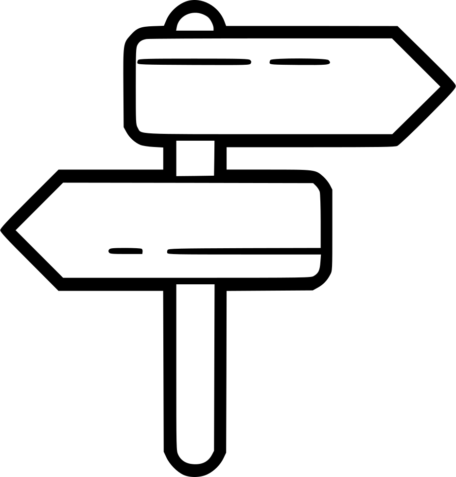 Clip stand directional. Arrows svg png icon