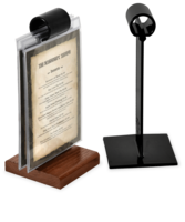 Clip stand tabletop. New menu show off