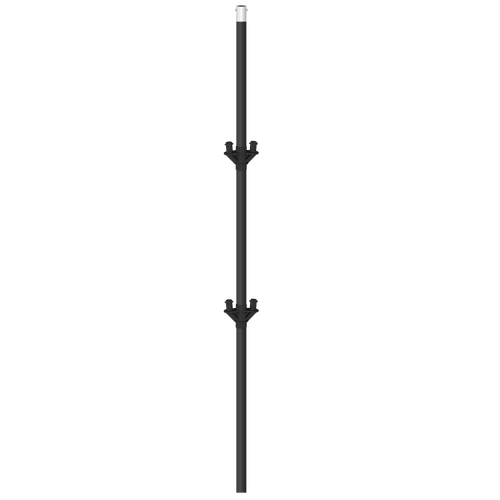Clip stand pole. Cluster with brackets