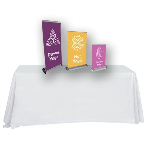 Clip stand tabletop. Retractable banner stands custom