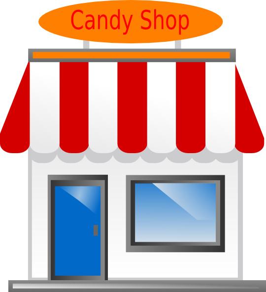 Awning vector candy shop. Front scarecrow clip art