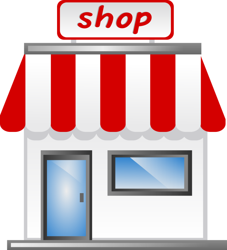Clip store. Supermarket vector library