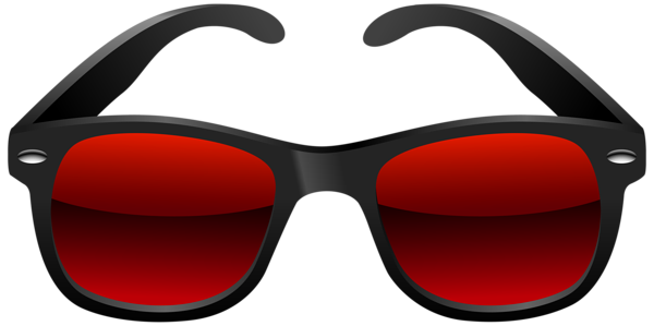 Clip sunglasses diy. Black and red png