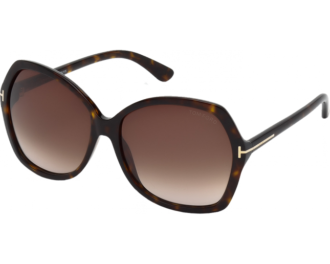 Clip sunglasses glass tom ford. Carola tortoise gradient brown