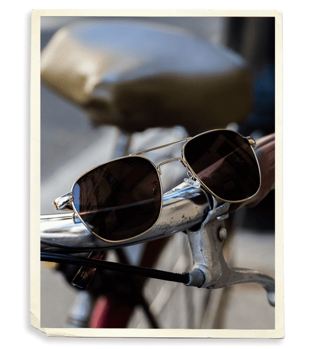Goggles vector vintage sunglasses. Moscot eyewear nyc since