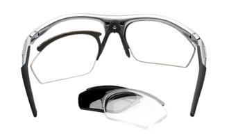 Clip sunglasses prescription glass. Rudy project leader in