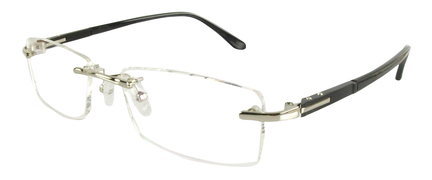 Clip sunglasses rimless glass. R men glasses with