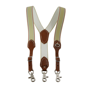 Clip suspenders brown leather. Belts mens traditional suspender