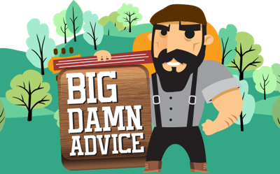 Clip suspenders banker. Big damn advice and