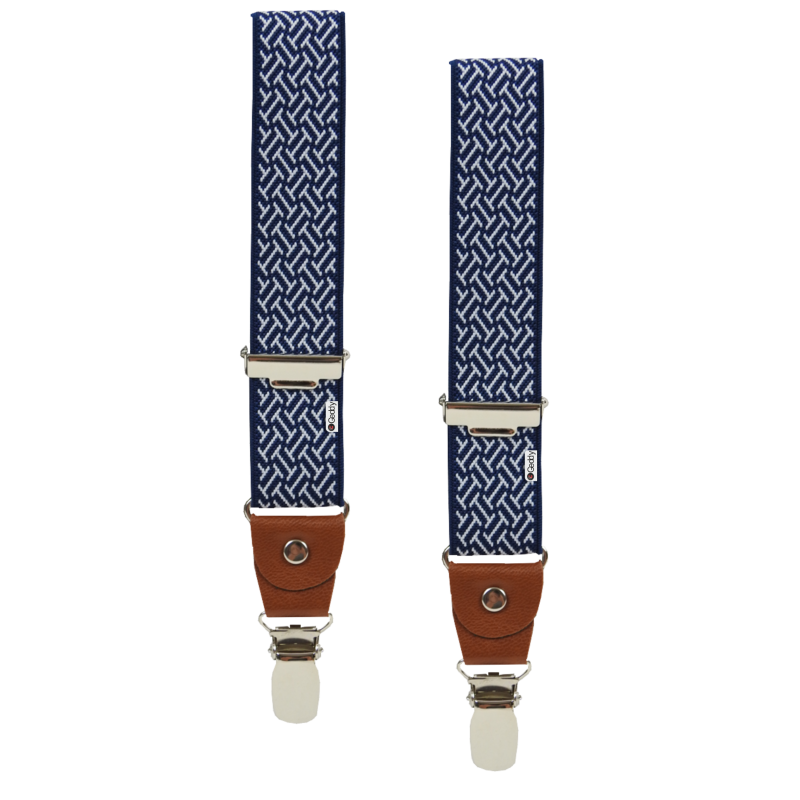 Clip suspenders brown leather. Kids braces geddyshop com