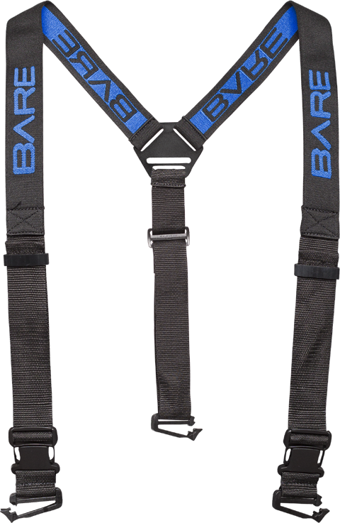 Clip suspenders suspender. Point drysuit bare