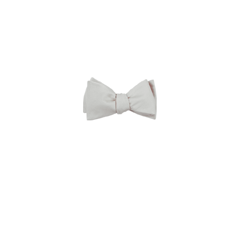 Clip suspenders tie bar. White grosgrain solid bow