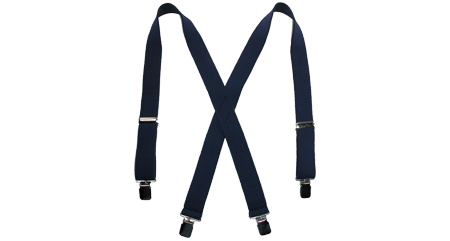 clip suspenders braided