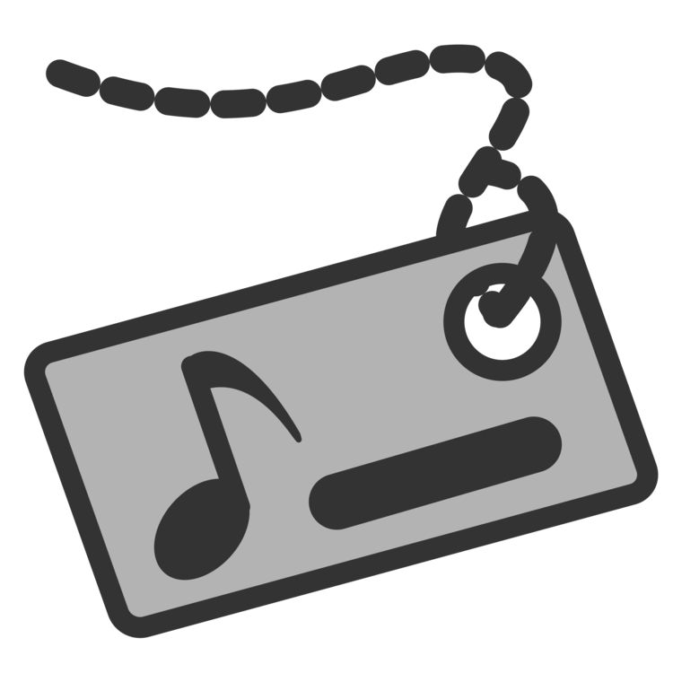Clip tag white name. Music download identity document