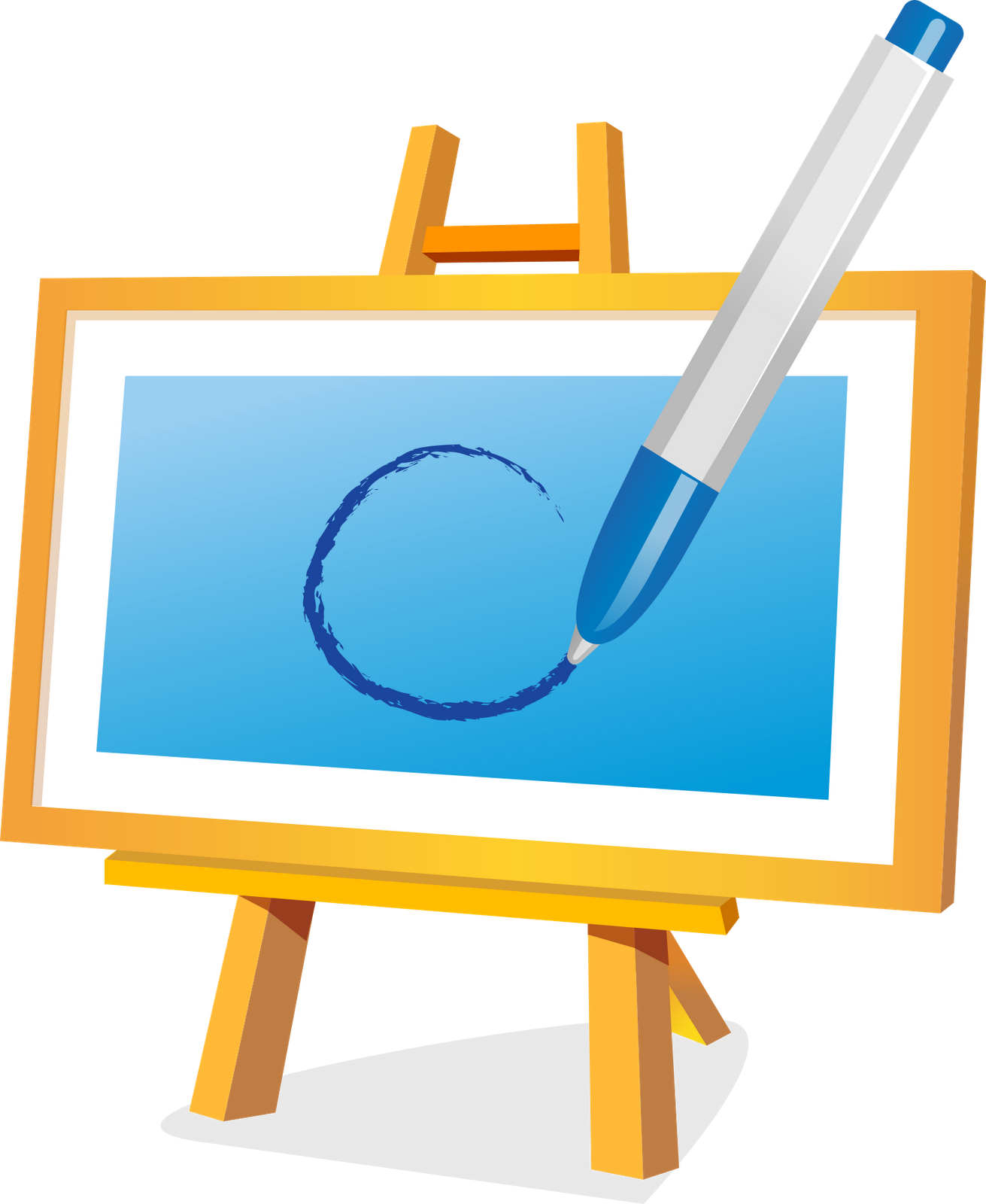 Drawing clip easel. Painting art transprent png