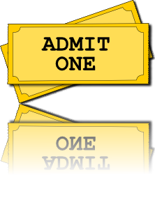 Clip technology instructional media. Movie tickets art vector