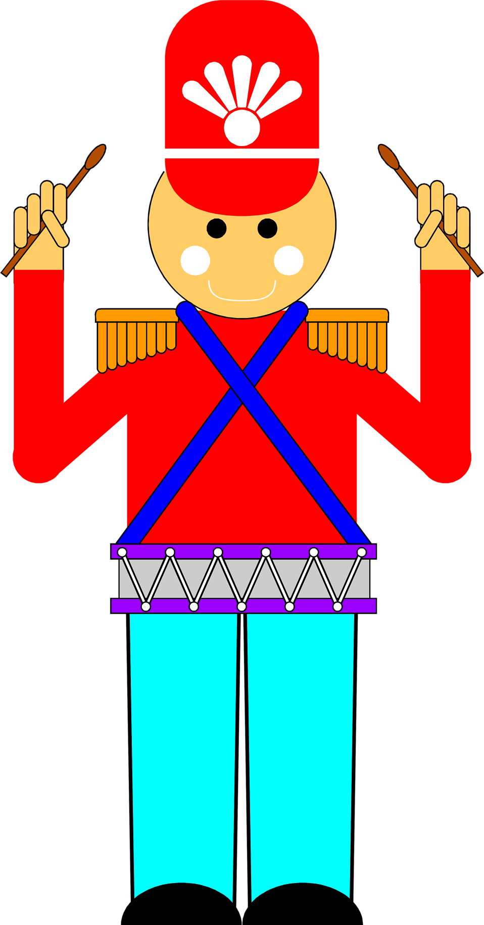 Clip types illustration. Toy soldier free stock