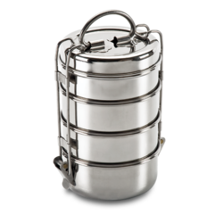 Clip types metal. Stainless steel lunch box