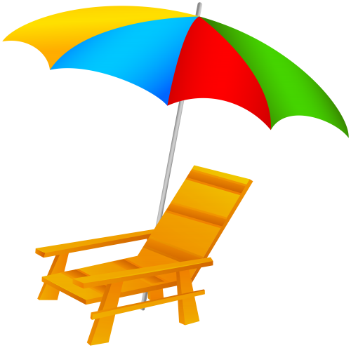 Pool clip umbrella. Beach and chair png
