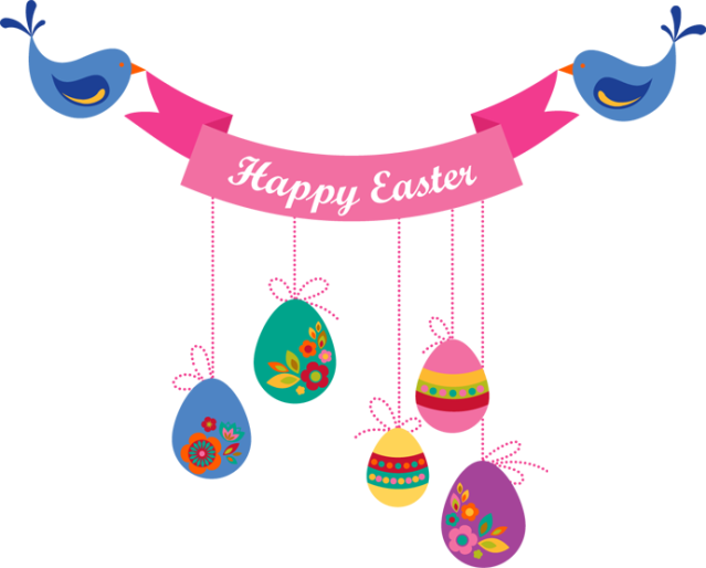 Clipart banner png. Happy easter clipground