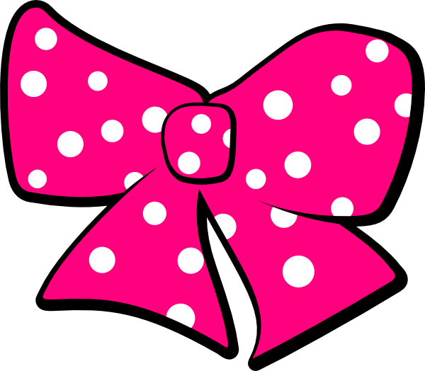 Clipart bowtie png. Bow tie pink polka