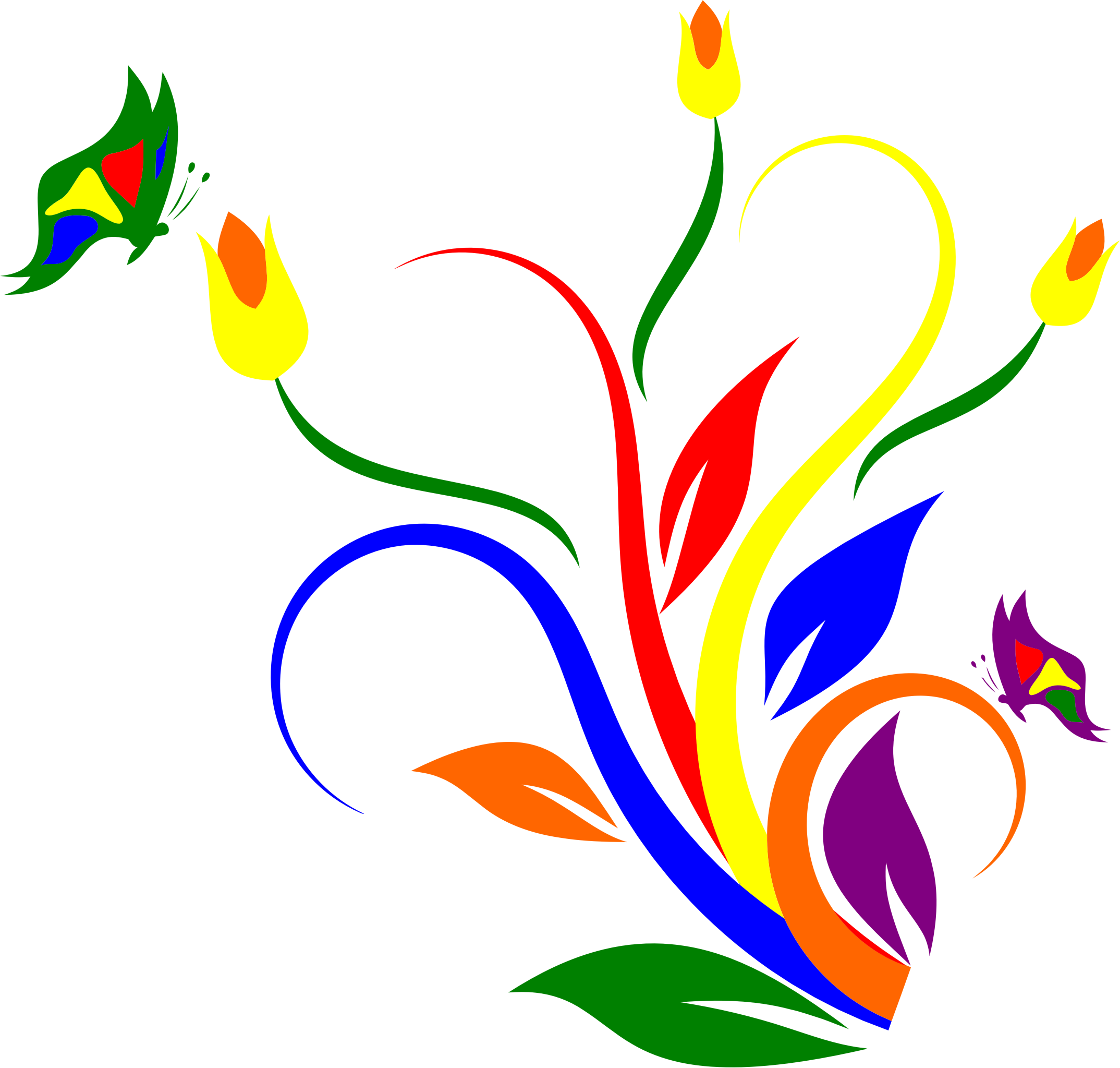 Clipart flowers and butterflies png. Butterfly flower at getdrawings