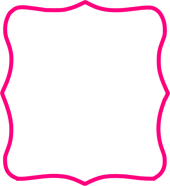 Pink png download image. Frame clip art clipart black and white stock