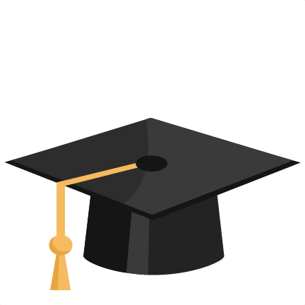 Birrete vector svg. Graduation hat silhouette at