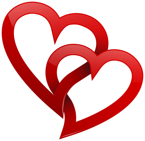 Clipart heart png. Two red hearts cora